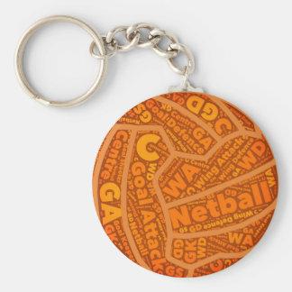 Chaveiro Design alaranjado temático da bola do Netball