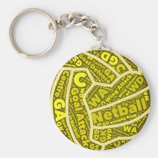 Chaveiro Design amarelo temático da bola da tipografia do