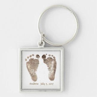 Chaveiro Design da corrente chave dos pés do bebê seus