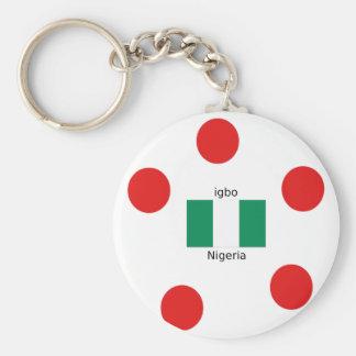 Chaveiro Design da língua da bandeira e do Igbo de Nigéria