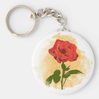 Chaveiro Design da rosa vermelha