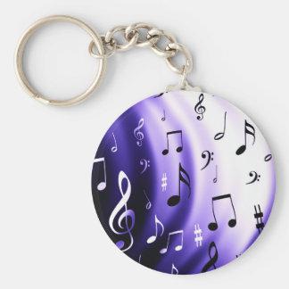 Chaveiro Design das notas musicais