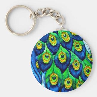 Chaveiro Design das penas do pavão