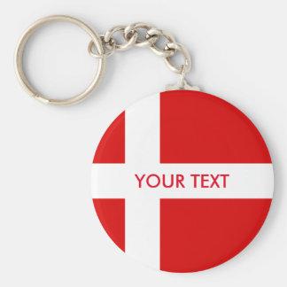 Chaveiro Design dinamarquês chave da corrente | da bandeira