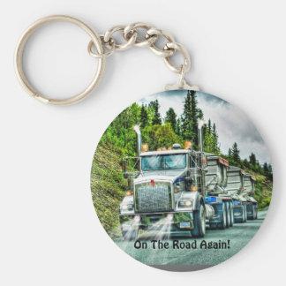 Chaveiro Design do camião do camionista grande do