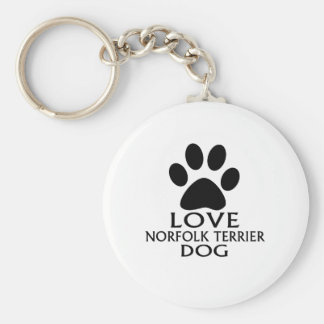 CHAVEIRO DESIGN DO CÃO DE NORFOLK TERRIER DO AMOR
