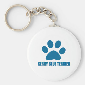 CHAVEIRO DESIGN DO CÃO DE TERRIER DE AZUL DE KERRY