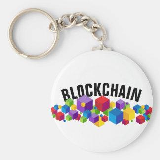 Chaveiro Design do cubo de Blockchain