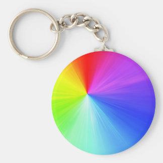 Chaveiro Design do espectro do arco-íris
