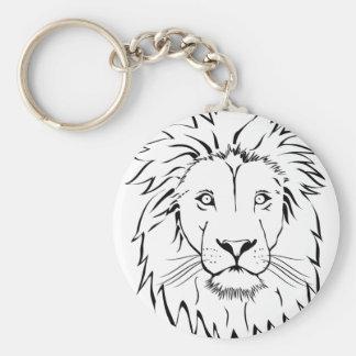 Chaveiro design do vetor do desenho do leão