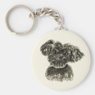 Chaveiro Design engraçado bonito do cão do Watercolour do