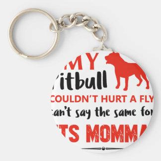 Chaveiro Design engraçado das mamães do pitbull