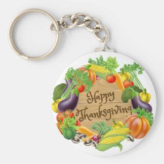 Chaveiro Design feliz do vegetal e das frutas da acção de