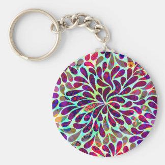 Chaveiro Design floral abstrato colorido