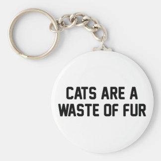 Chaveiro Desperdício dos gatos da pele