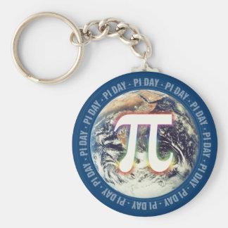 Chaveiro Dia colorido do Pi do fulgor na matemática da