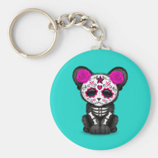 Chaveiro Dia cor-de-rosa da pantera preta inoperante Cub