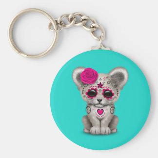 Chaveiro Dia cor-de-rosa do leão Cub inoperante