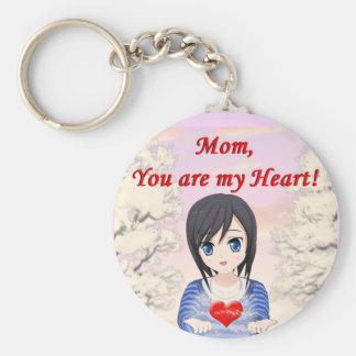 Chaveiro Dia das mães - mãe, você é meu coração