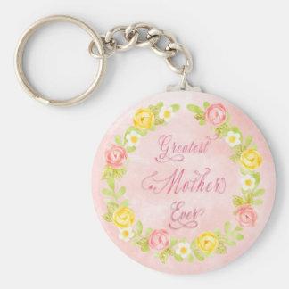 Chaveiro Dia das mães - rosas bonito 2 de Watecolor - arte