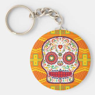 Chaveiro Dia de Calavera II. do crânio mexicano inoperante