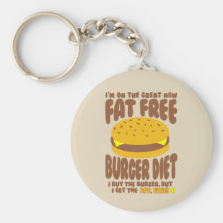 Chaveiro Dieta livre de gordura do hamburguer