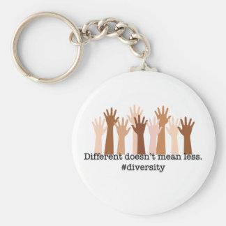 Chaveiro Diferente não significa menos: Diversidade