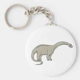 Chaveiro Dinossauro do Brontosaurus que olha abaixo da mono