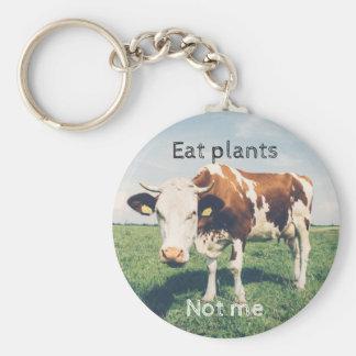 Chaveiro Direitos dos animais, anel chave com uma vaca,
