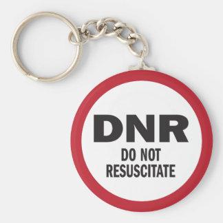 Chaveiro DNR não reanimam médico