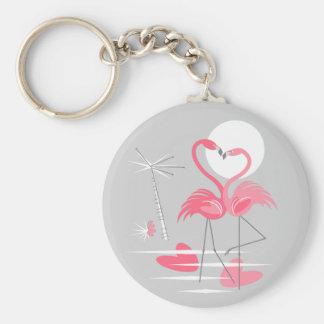 Chaveiro do amor do flamingo básico