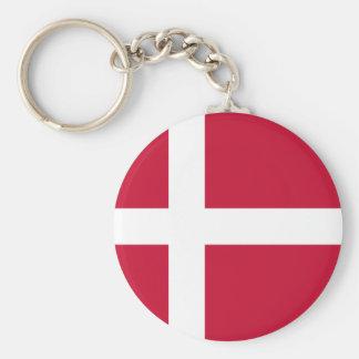 Chaveiro do botão da bandeira de Dinamarca