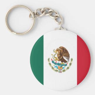 Chaveiro do botão da bandeira de México