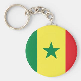 Chaveiro do botão da bandeira de Senegal