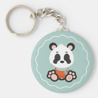 Chaveiro do botão da panda do sorriso