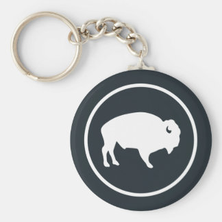 Chaveiro Do búfalo corrente chave branca fora