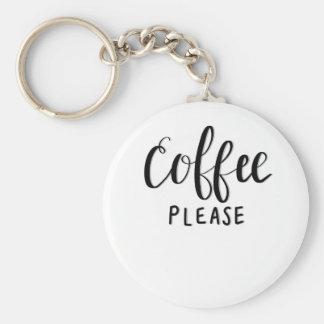 Chaveiro Do CAFÉ caligrafia POR FAVOR