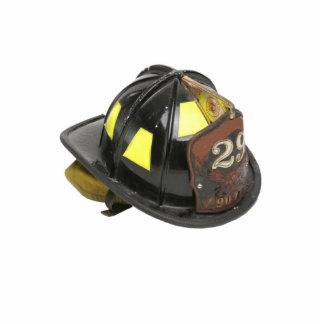 Chaveiro do capacete do bombeiro escultura de foto
