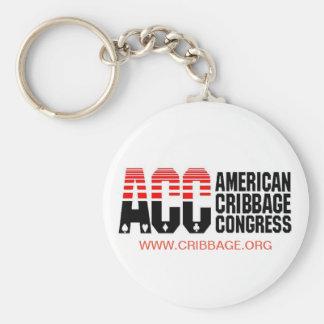 Chaveiro do congresso de Cribbage do americano
