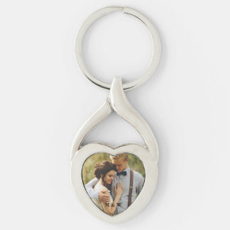 Chaveiro do coração da foto do casal