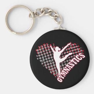Chaveiro do coração da ginástica