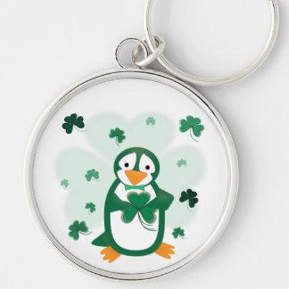 Chaveiro do dia de St Patrick do pinguim de Patric
