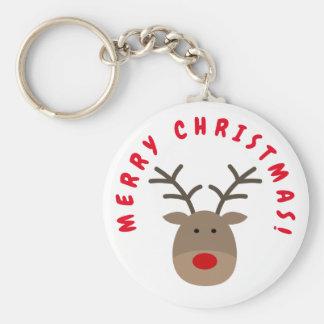 Chaveiro do Feliz Natal com Rudolf a rena