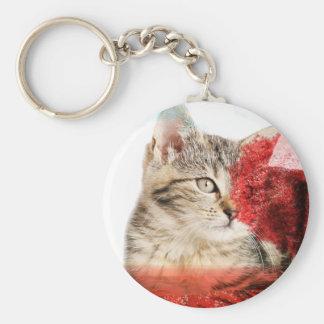 Chaveiro do gato de gato malhado