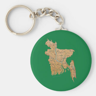 Chaveiro do mapa de Bangladesh
