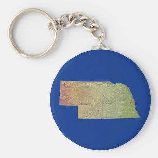 Chaveiro do mapa de Nebraska
