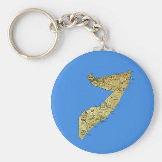 Chaveiro do mapa de Somália