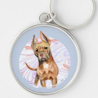 """Chaveiro Do """"orelhas coelho"""" pintura da aguarela do cão de"""