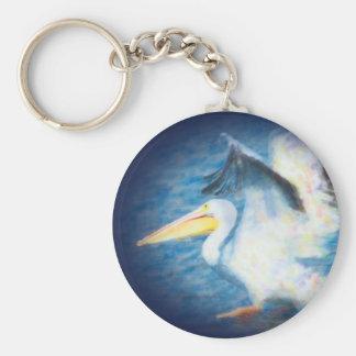 chaveiro do pelicano da aguarela