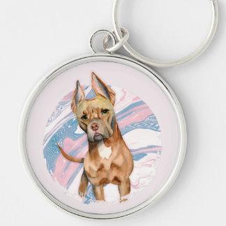 """Chaveiro Do """"pintura da aguarela do cão do pitbull das"""